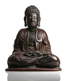 A wood figure of Buddha Shakyamuni, Vietnam, 18th-19th Ct. Photo Nagel