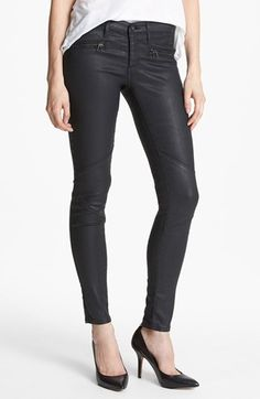 AG Jeans 'The Motto' Coated Ankle Leggings (BSC) available at #Nordstrom.  Love these!