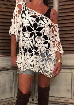 Captivating Crochet a Bodycon Dress Top Ideas. Dazzling Crochet a Bodycon Dress Top Ideas. Black Crochet Dress, Crochet Cardigan, Mode Crochet, Knit Crochet, Crochet Woman, Crochet Fashion, Crochet Designs, Crochet Ideas, Crochet Clothes