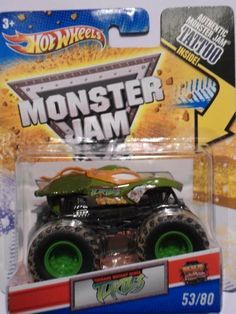 Hot Wheels Monster Jam, Teenage Mutant Ninja Turtles Michelangelo/Orange , Tattoo Series #53/80 1/64 Scale by MATTEL, http://www.amazon.ca/dp/B004S3K9NS/ref=cm_sw_r_pi_dp_ejDqtb0A2F1B3