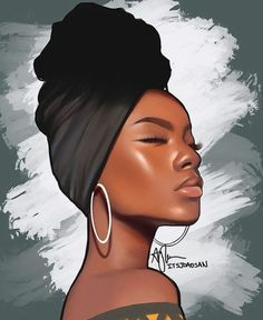 (repost becauSe I found a mistake) Aaliyah draws Aliya ( 🤪 Please tag her! also idk why the process video is sideways, I'm… Black Love Art, Black Girl Art, Art Girl, Black Art Painting, Black Artwork, Afrika Tattoos, Drawings Of Black Girls, Afrique Art, Black Girl Cartoon