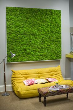 green wall at companies house moss art graffiti living Moss Wall Art, Moss Art, Wall Art Decor, Interior Plants, Interior Design, Vertikal Garden, Moss Graffiti, Growing Moss, Companies House