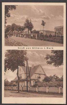 Ansichtskarte / Postkarte Glöwen Plattenburg Prignitz, Dorfstrasse, 2-Bild
