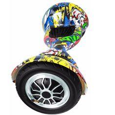Skate Elétrico Hoverboard 10 Polegadas Hip-Hop Pneu Inflável - LED 36147ee3663