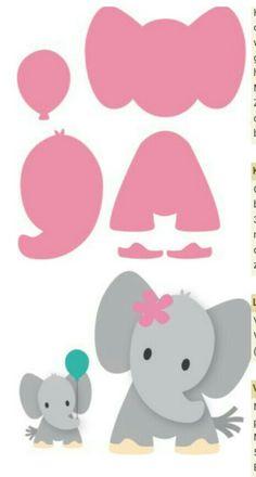 Risultati immagini per elefante marianne design Felt Crafts, Diy And Crafts, Crafts For Kids, Paper Crafts, Easy Crafts, Quilt Baby, Elephant Theme, Baby Elephant, Elephant Nursery Decor