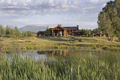 PrecisionCraft Luxury Log Homes | Wyoming Love this! Just beautiful and lush! Did not think this foilage and fauna were in Wyoming