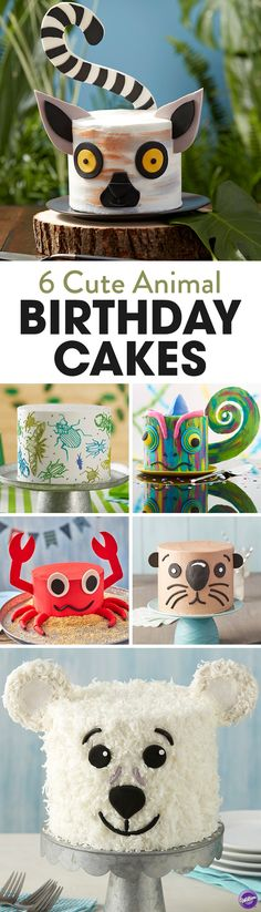 Looking for animal cake inspiration and ideas? If you're planning an animal-themed birthday party for your child, here are six adorable animal birthday cakes that you kid will love and your guests will enjoy!