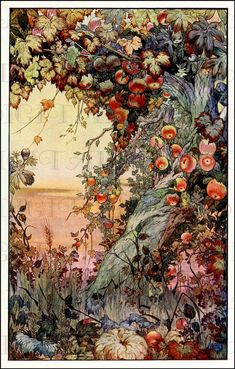 Art And Illustration, Antique Illustration, Pics Art, Vintage Flowers, Floral Flowers, Oeuvre D'art, Art Inspo, Illustrators, Fantasy Art