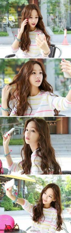New Hair Goals Straight Waves Ideas Neue Haarziele Gerade Wellen Ideen Hair Color Asian, Asian Hair, Korean Hair, Wavy Hair, New Hair, Tousled Hair, Korean Beauty, Asian Beauty, Ulzzang Hair