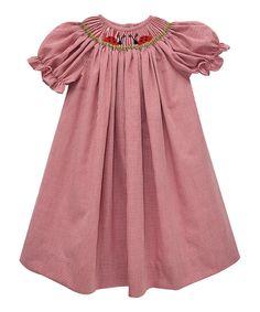 Love this Red Ladybug Bishop Dress - Infant, Toddler & Girls by Smocked Giraffe on #zulily! #zulilyfinds