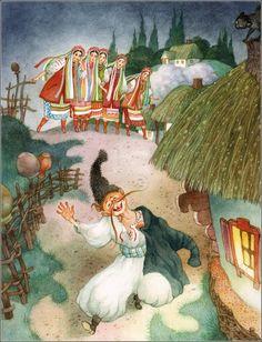 Nikolai Gogol. May Night, or the Drowned Maiden. ISBN 978-5-353-06084-0; 2012. Illustrator Olga Ionaytis.