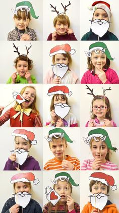 The best DIY projects & DIY ideas and tutorials: sewing, paper craft, DIY. DIY Gifts & Wrap Ideas 2017 / 2018 MollyMoo – crafts for kids and their parents Christmas Photobooth For KIds (nadal) -Read Preschool Christmas, Christmas Games, Noel Christmas, Christmas Crafts For Kids, Christmas Activities, Xmas Crafts, Christmas Photos, Christmas Projects, Winter Christmas