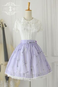 Miss Point ~Alice's Secret Key~ Sweet Organza Lolita Skirt