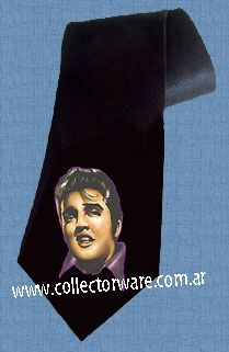 ELVIS PRESLEY drawing 1 DELUXE ART CUSTOM HANDPAINTED TIE  $28.00 + shipping   *Please see details at http://www.collectorware.com.ar/neckties-elvis.htm