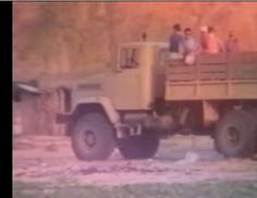 EO September 1993 going to Cabo Ledo beach on the 6X6 Kraz