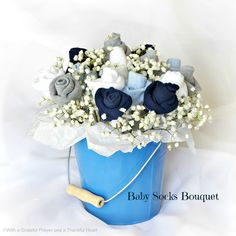 DIY how to tutorial to make floral rose bud bouquet so sweet for baby shower
