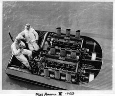 Wow... talk about balls!  Gar Wood, Miss America, Twin V16, Miller/ Packard Race Engines
