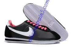 Nike Classic Cortez Nylon Womens Black Hot Pink White 488291 061