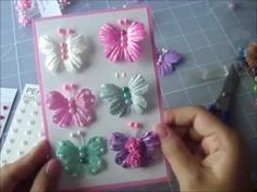 Easy DIY butterflies from 5 petal paper flowers.  Super easy to make.++ + MARIPOSAS PETALOS FLORES ARTIFICIALES FACIL BARATO DECORATIVO MUCHOS USOS RECICLA REUTILIZA MANUALIDAD NIÑA REGALO