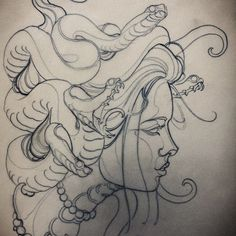 Why cant you look me in the eyes, one last time? #medusa #sketch #instasketch #neotradsub #neotraditional #newtraditional #instaart #instasketch #sketch #draw #tattooworkers #skinartmag #tattoocollectors #tattsketches