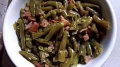 Southern Green Beans. I like to add a dash of white vinegar for a touch of acid to balance out the flavors, but otherwise, this is spot on!