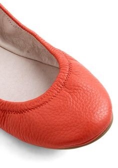 Flexible Schedule Flat in Coral Orange, #ModCloth I have these in three different colors (: