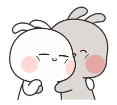 Cute Hug, Cute Love Gif, Cute Cat Gif, Funny Emoji Faces, Animiertes Gif, Cute Bear Drawings, Cute Kawaii Animals, Cute Love Stories, Cute Cartoon Pictures