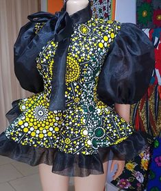 Short African Dresses, African Fashion Designers, Latest African Fashion Dresses, African Print Dresses, African Print Fashion, African Fashion Traditional, African Attire, Baby, Peplum Tops