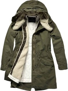 Scotch & Soda Parka with wired hood and detachable lining