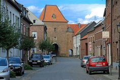 This was our town, Gangelt, Germany, through this gate and along the road was our house.  Awesome bakery just on the right of this street.