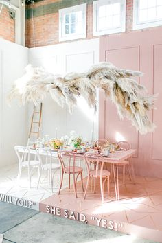 Photo by Whiskers & Willow Corporate Event Design, Flower Installation, Donia, Backdrop Design, Modern Love, Pampas Grass, Event Styling, Wedding Decorations, Spring Decorations