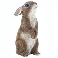 Look what I found on Standing Bunny Statue Garden Animal Statues, Gnome Statues, Garden Statues, Tiny Bunny, Cute Bunny, Rabbit Garden, Classic Garden, Blue Garden, Dinosaur Stuffed Animal