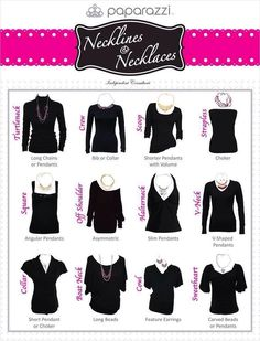What Necklace Goes With What Neckline/Top&Length Chart [Cheat Sheet!] #Fashion #Trusper #Tip