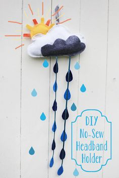 DIY No-Sew Headband Holder - I know just the little girl to make this for :)