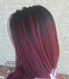 Trendy Hair Color Blonde Balayage Red Long Bobs 21 Ideas - All For Hair Cutes Hair Color Highlights, Hair Color Balayage, Blonde Balayage, Burgundy Balayage, Burgandy Ombre, Burgundy Highlights, Carmel Highlights, Ombre Brown, Blonde Brunette