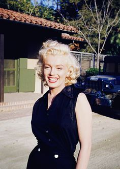 Marilyn Monroe photographed by silent film star and big camera buff Harold Lloyd, 1953.