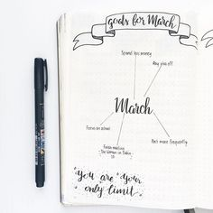 Day 2: Goals for March ✨ To be honest I'm not much of a goal setter so we'll see how this goes My pens came in yesterday and they are life changing! Honestly I love them so much and they're so easy to use • • • • • #bulletjournal #bulletjournalcommunity #bulletjournaladdict #bulletjournaling #bujobeauty #showmeyourplanner #planner #journal #planning #bujo #leuchtturn1917 #bujoinspire #bujotown #bulletjournalcollection #planwithmechallenge #goals #marchgoals #tombowfudenosuke