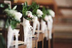 Church flowers kirche blumen hochzeit wedding grün green