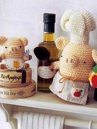 Crochet Cooking Pigs