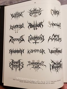 Lord of the Logos - Designing the Metal underground by Christophe Szpajdel Graphic Design Art, Logo Design, Metal Font, Cute Tats, Tattoo Lettering Fonts, Death Metal, Tattoo Drawings, New Tattoos, Tattoo Inspiration