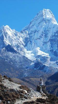 Himalayas on the Everest Base Camp trek.