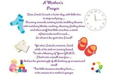 A mother's prayer for all the young moms we pray.