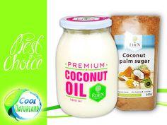 Coconut Oil, Kokosfett, Kokosöl 1000ml + Kokosblütenzucker 500g