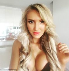 'He's matured so much': Busty aspiring musician Nyssa Large, 28, told the Herald Sun on Thursday that Justin Bieber 'is lovely'  after denying she was invited on his Melbourne yacht last weekend in exchange for 'sexual favours'