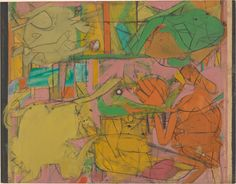 Judgment Day  Willem de Kooning  (American (born The Netherlands), Rotterdam 1904–1997 East Hampton, New York)    Date:      1946  Medium:      Oil and charcoal on paper  Dimensions:      22 1/8 x 28 1/2in. (56.2 x 72.4cm) 30 1/2 x 36 3/4 x 2 in. (77.5 x 93.3 x 5.1 cm) (Frame)