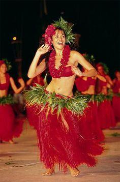 Hula dancing.