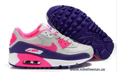 huge discount 14e23 5e465 Nike Air Max 90 Hot Pink Club Purple White Womens Shoes Outlet Pink Club,  Nike