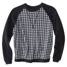 houndstooth sweatshirt is a must for me this fall FRIDAY FAVORITES - BungalowM.com
