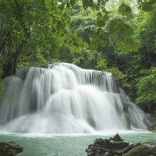 Wall mural - Beautiful Waterfall in Thailand