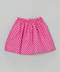 Take a look at this Pink Polka Dot Skirt - Infant, Toddler & Girls by Waistin' Away on #zulily today!